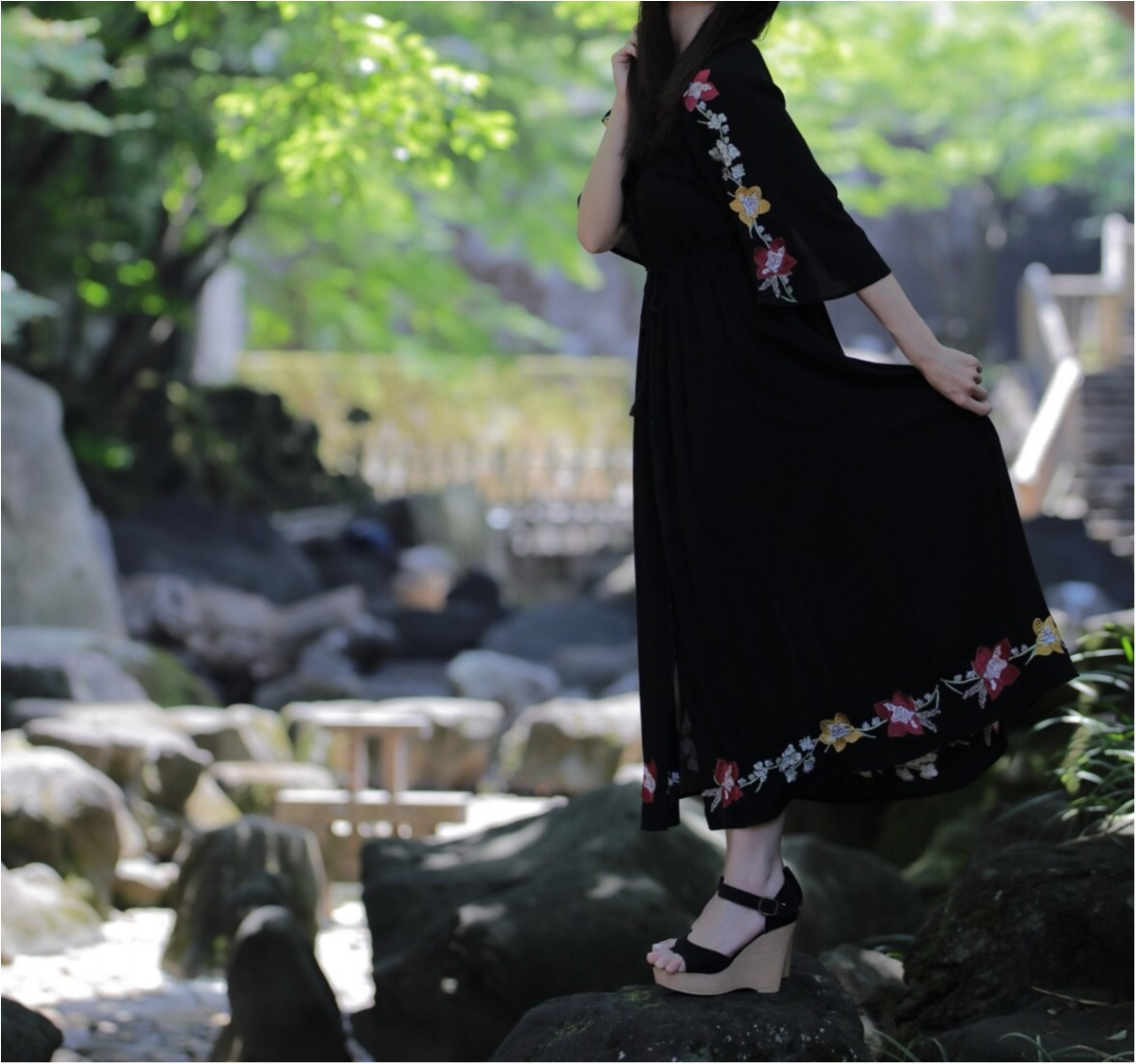 花柄刺繍の存在感が◎1枚で着れちゃう○○のワンピースに一目惚れ☺︎_5