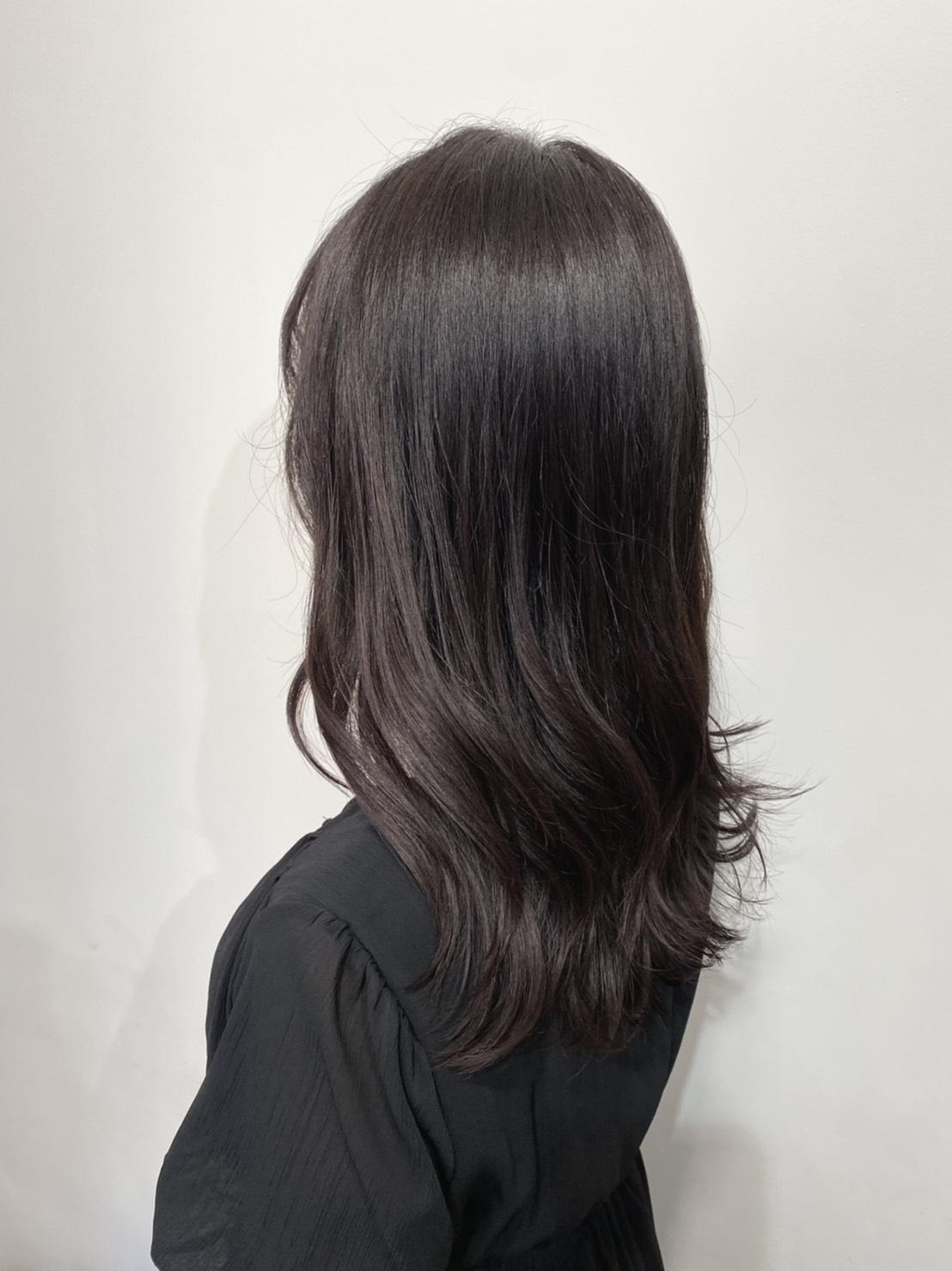 カラーした後の髪の毛を別角度から