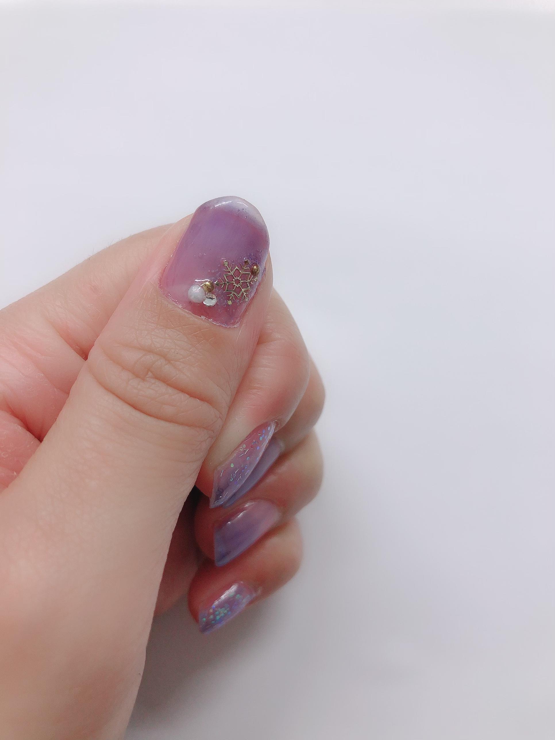 【#ダイソー】シロップみたいな透明感が魅力♩ちゅるんとした質感が可愛いネイルを¥110で!_3