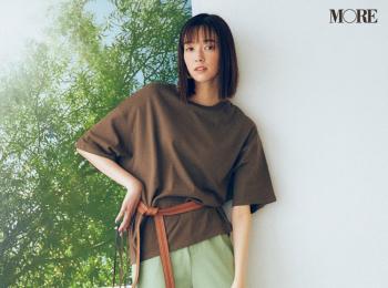 【今日のコーデ】<佐藤栞里>ミントグリーンのパンツにはブラウンのTシャツ。暑さの残る9月はチョコミント配色で♪