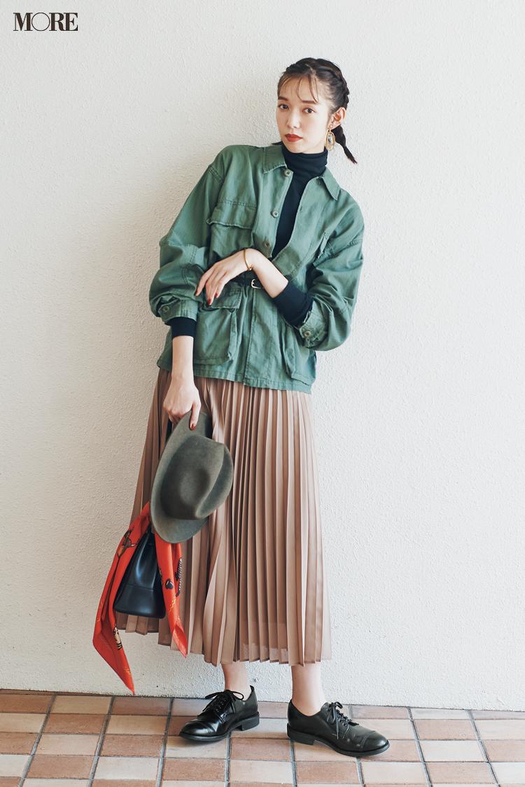 """新しく買わなくってもいいじゃん♡ ベージュのプリーツスカートは""""3足の靴""""で新鮮さがよみがえる!_3"""