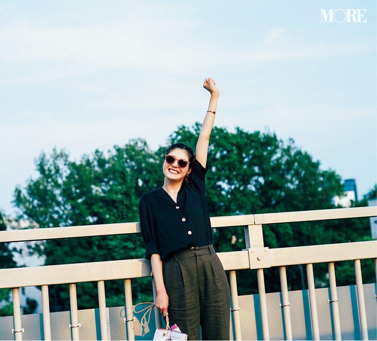佐藤ありさがお手本! 夏のシャツコーデ Photo Gallery_1_2
