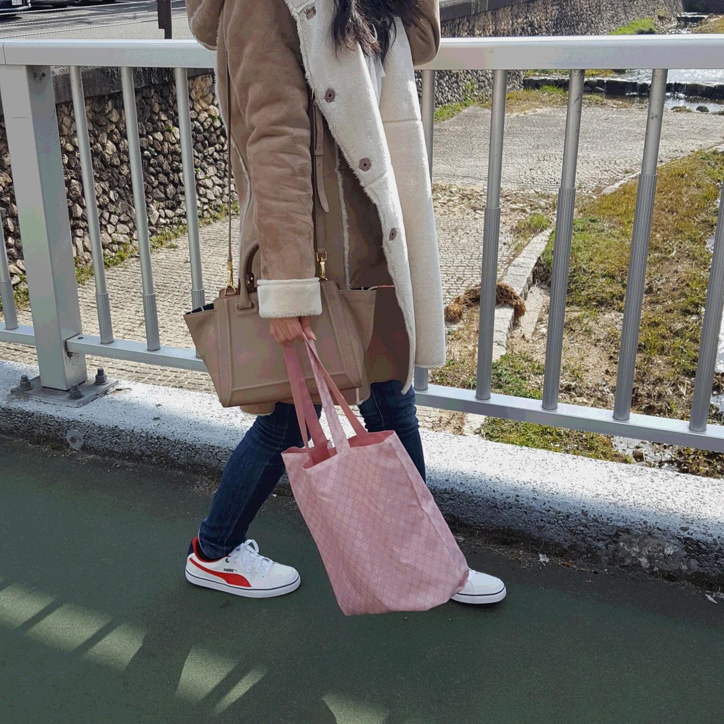 SAZABY リバーシブルトートバッグと出かける春♡_2