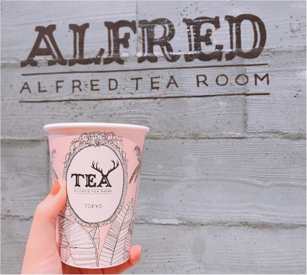 【ALFRED TEA ROOM】のバレンタインドリンク《ウィンターギフトティー》が可愛すぎる♡♡チョコっと大人なミルクティーが美味❤︎_1