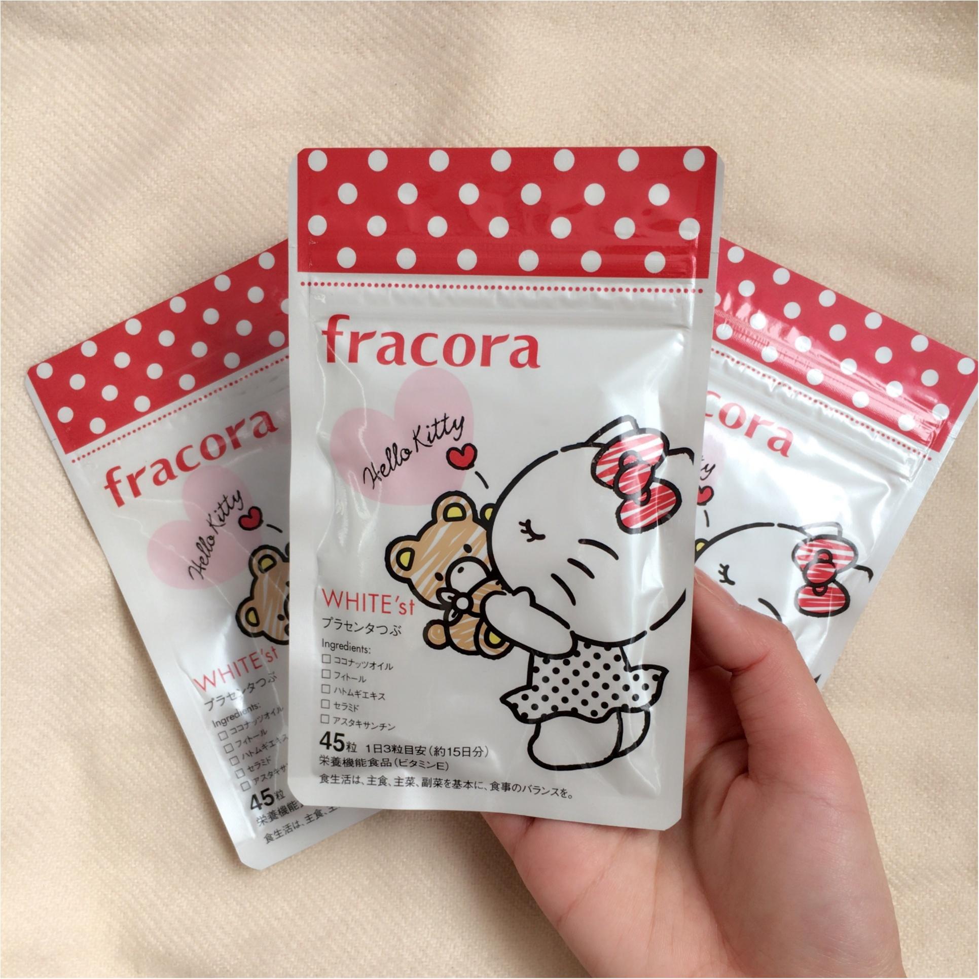 《フラコラ》私が最近買ったもの♡ハローキティとコラボ中!《WHITE'st プラセンタつぶ》_1