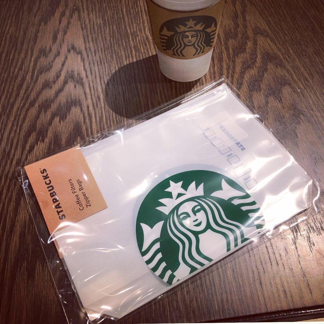 <スタバ>売り切れ前にゲットせよ!オシャレで大人気のコーヒーフィルタージッパーバッグ♡_5