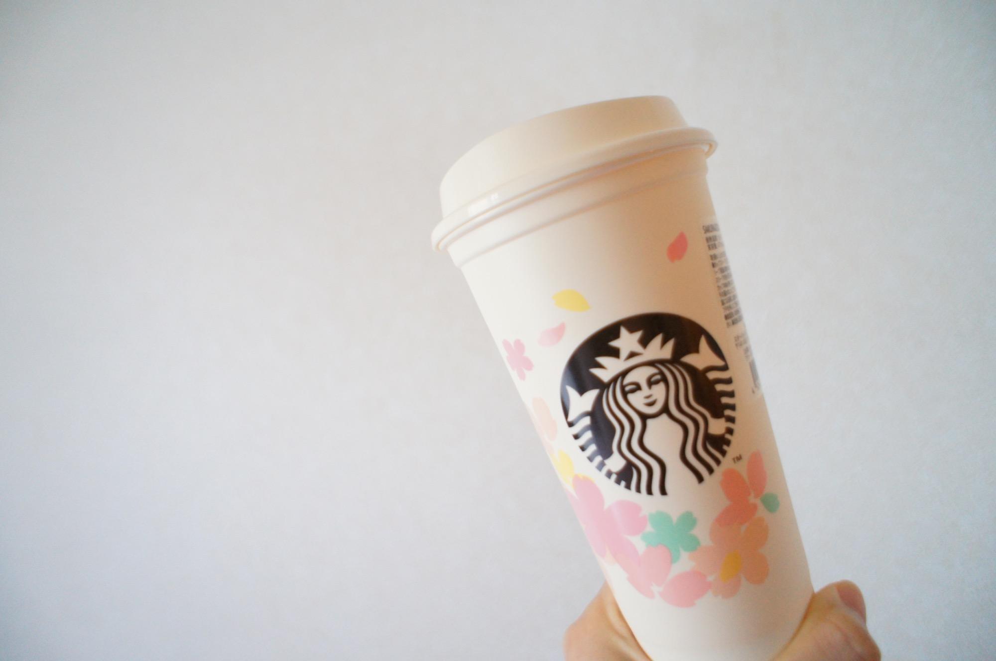 《繰り返し使える!値引もしてもらえる❤️》桜デザイン【スタバ】リユーザブルカップを買ってみました☻_2