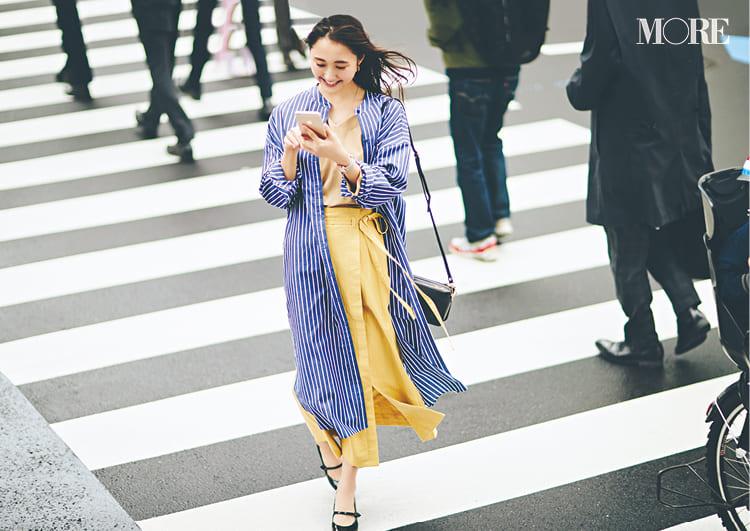 シャツワンピースの着こなし術【2020春】- 今年イチオシの色・形は? とびきり今っぽくておしゃれな最新ファッションまとめ_18