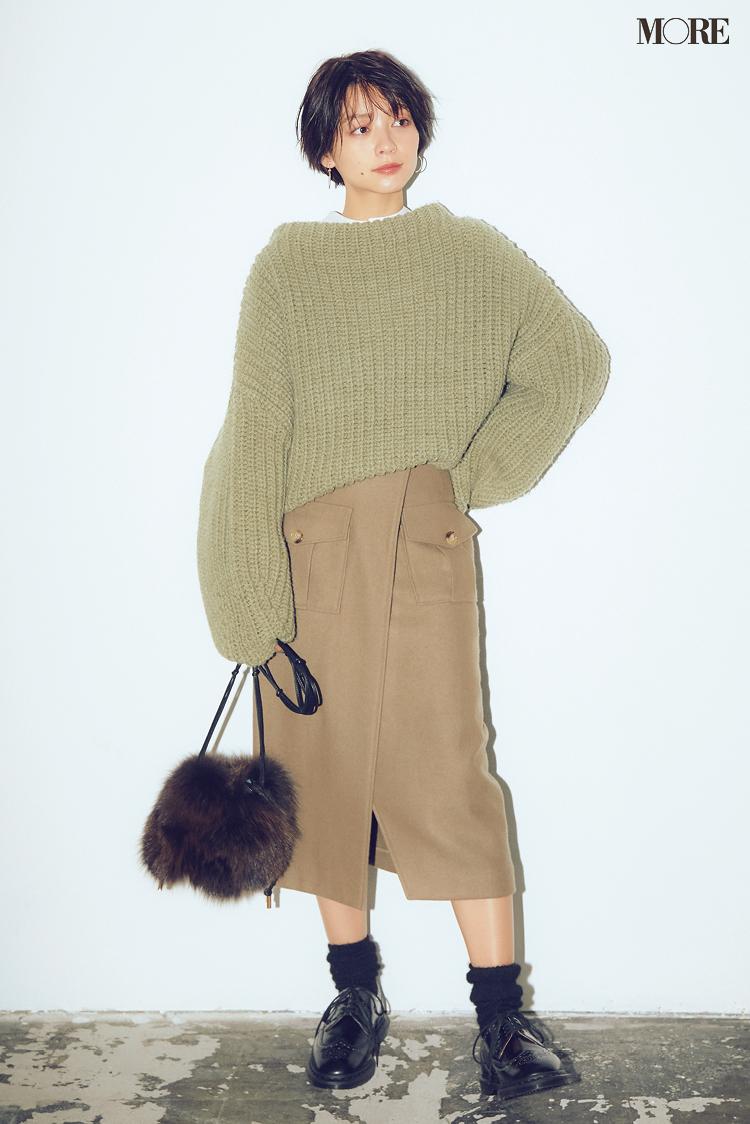 身長150cm台・ぺたんこ靴でもこんなに腰高脚長見え!ロング丈のスカートはこのブランドで選んでみて_4