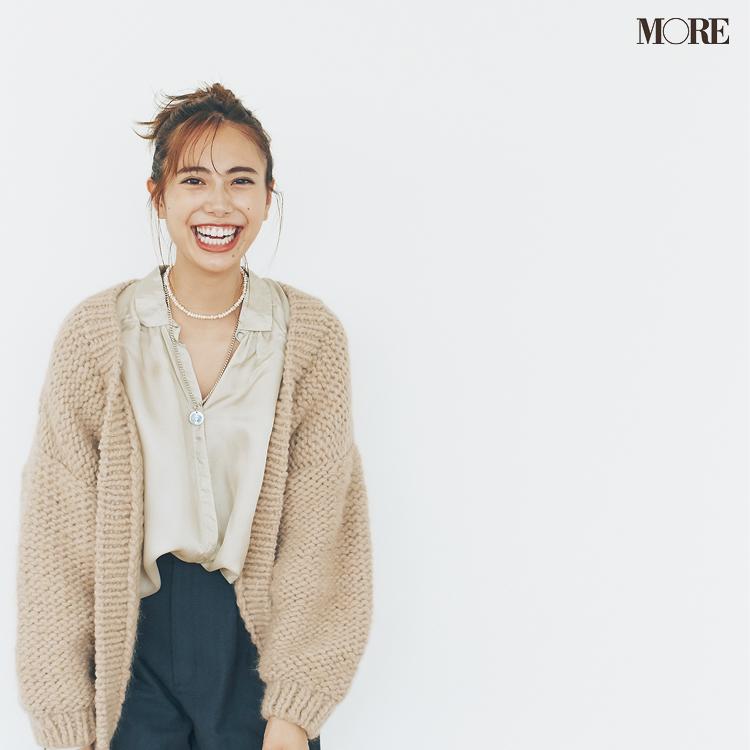 『ユニクロ ユー』も採用♡ 20代後半女子がもこもこカーディガンを大人っぽく着るコツ_1