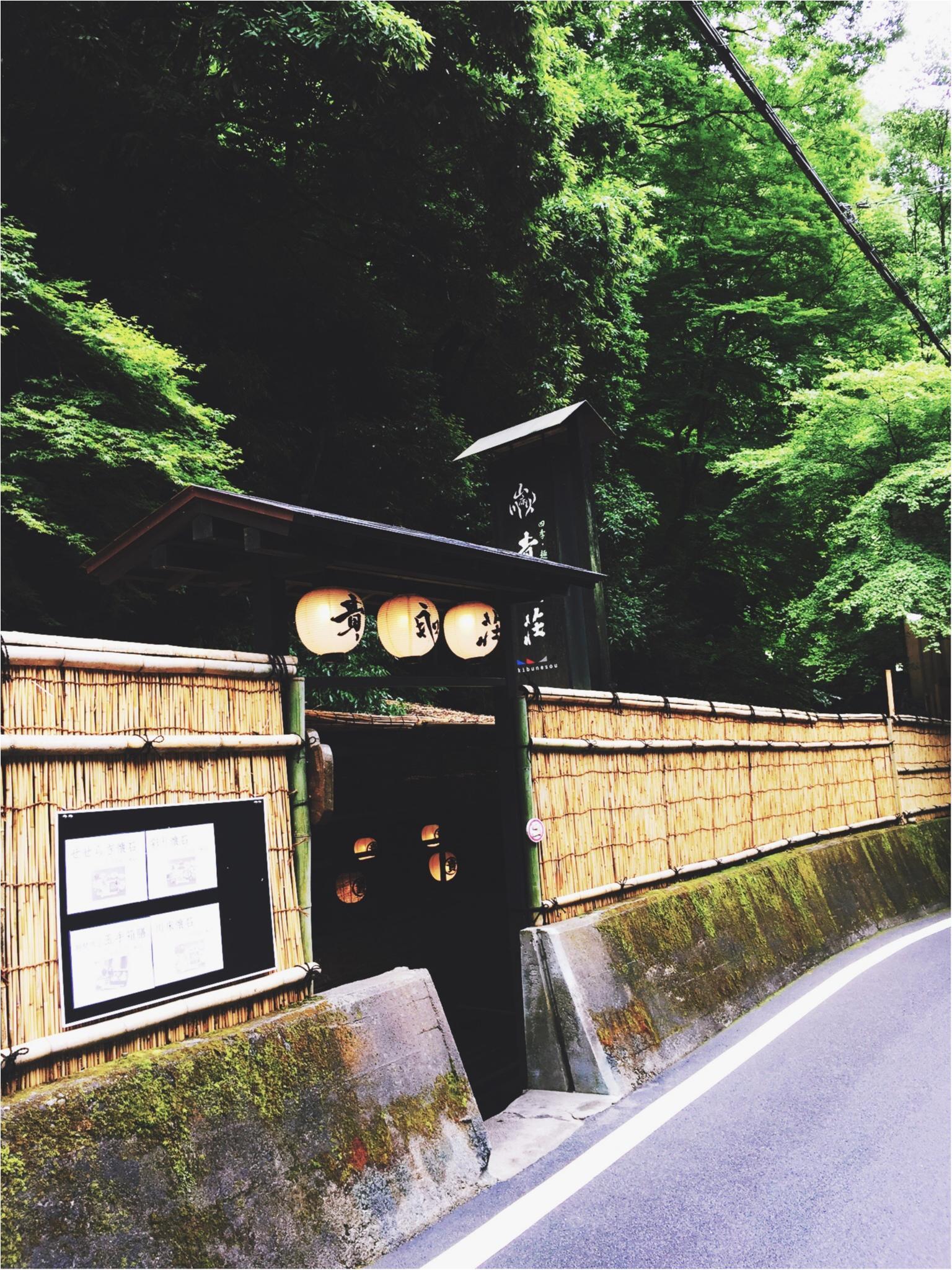 京都・貴船の滝つぼ……ではなく川床でお食事♪_5