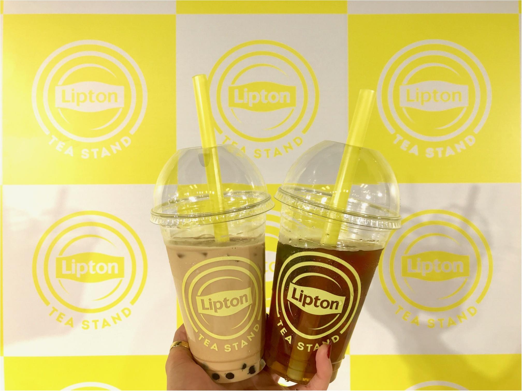 表参道・大阪で大人気のあの『リプトン』イベントがお店になった! 「Lipton Tea Stand」が、札幌北広島・名古屋・博多にオープン★_2