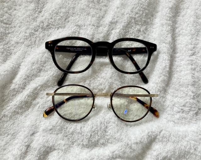 ZOFFとJINSのメガネ ブルーライトカットメガネ