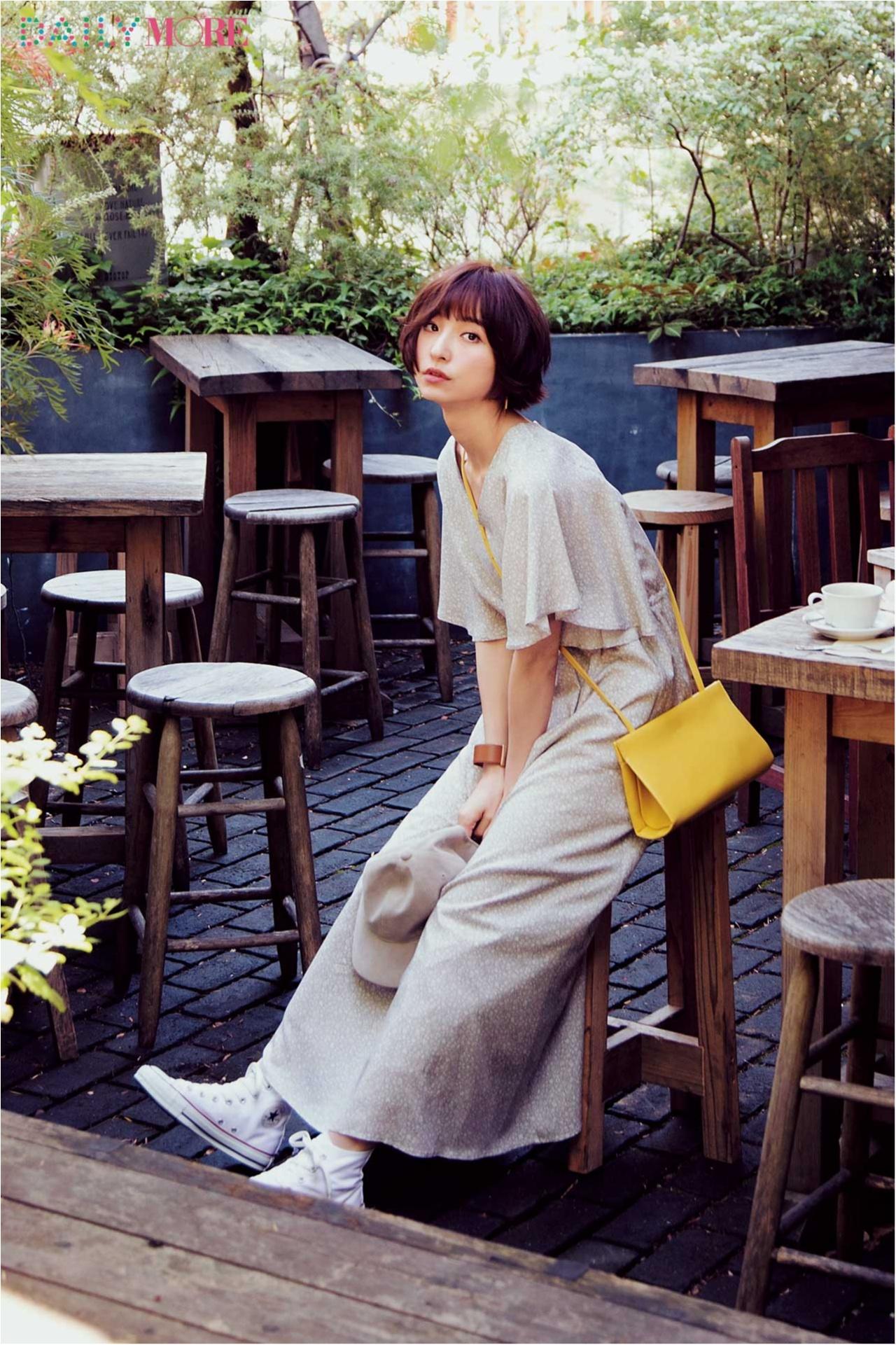 待ち合わせはテラス席。休日の麻里子はマキシワンピでおしゃれする~グリーンのテラス編~_1