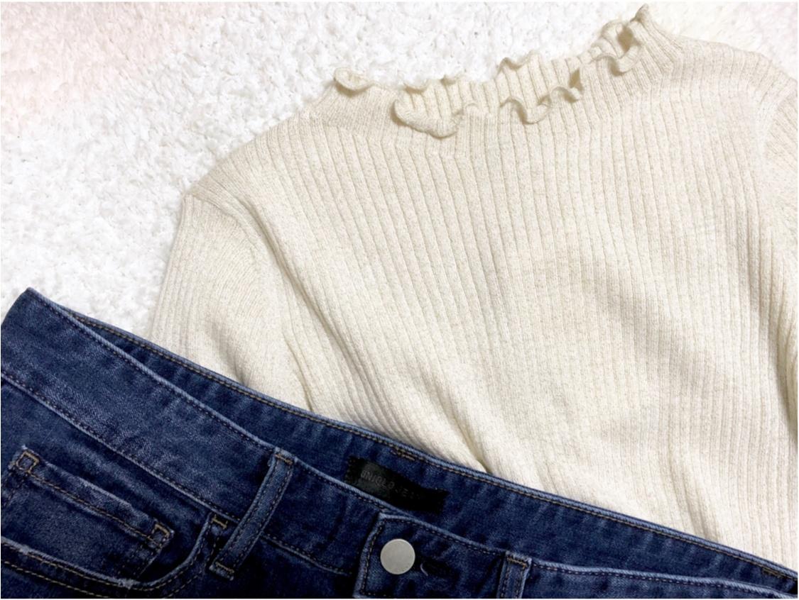 【UNIQLO - ユニクロ -】年末の買い足し服にぴったり❤️《シャイニーリブフリルネックセーター》が可愛すぎる!_1