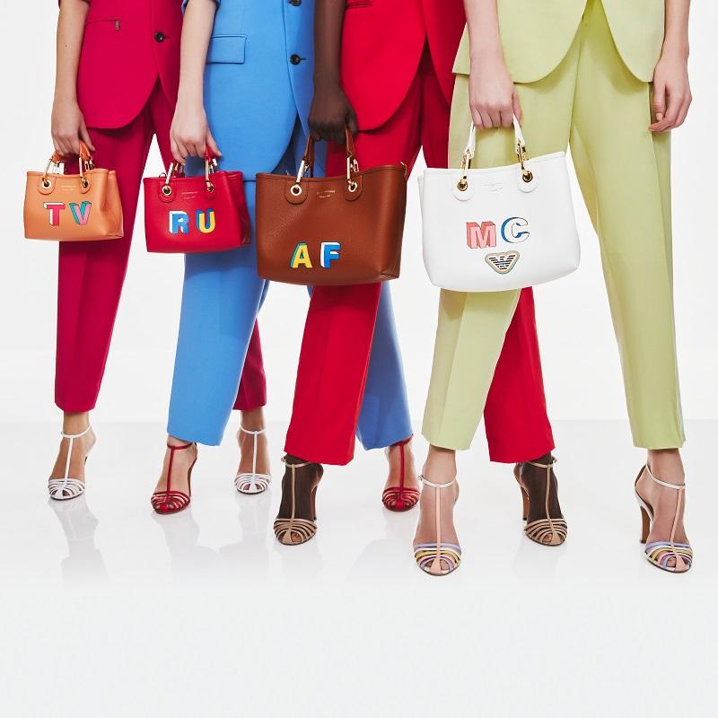 エンポリオアルマーニ、春の新作バッグ「MyEA」カスタマイズイベント