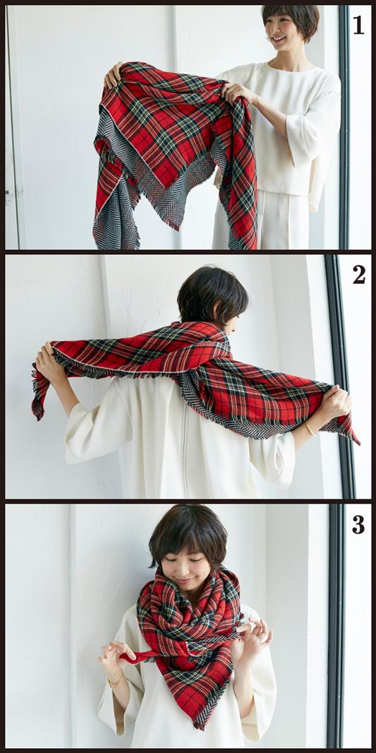 【巻き方つき!】篠田麻里子がナビする、旬の巻きもの×トレンド服・3つの正解!_6