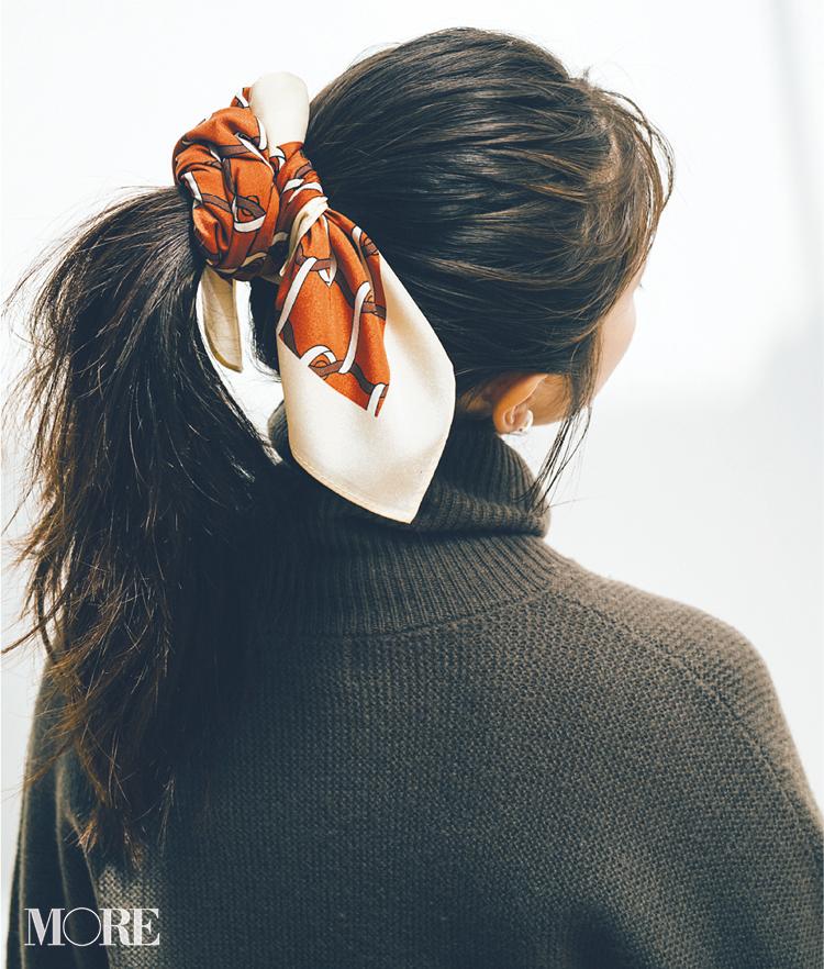 スカーフで意外と簡単にできるんです。恋に落ちそな後ろ姿❤︎ 冬コーデの華やかさも3割増! 記事Photo Gallery_1_8
