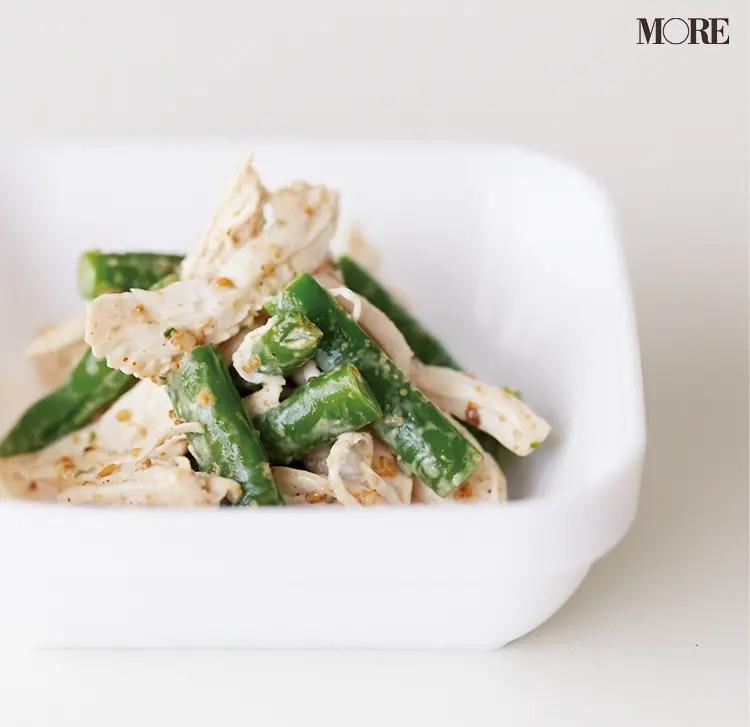 【作り置きお弁当レシピ】2. ゆで鶏むね肉の「ごまマヨ和え」