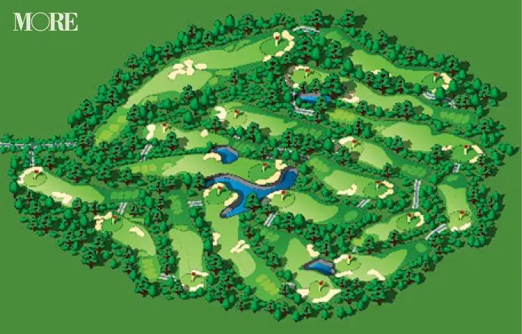ゴルフコースの全体図