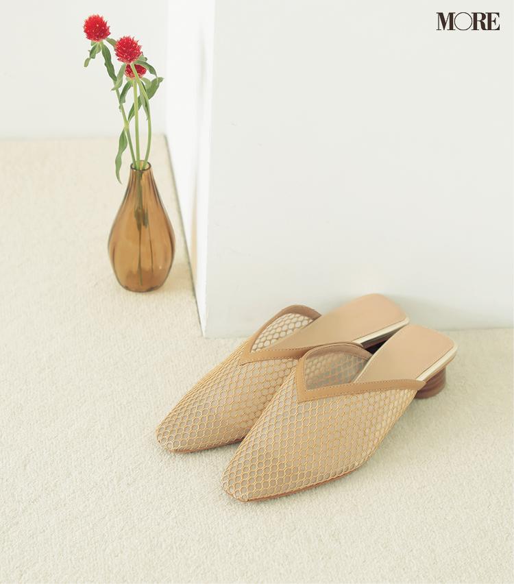 トレンドシューズ部門1位のメッシュタイプの靴