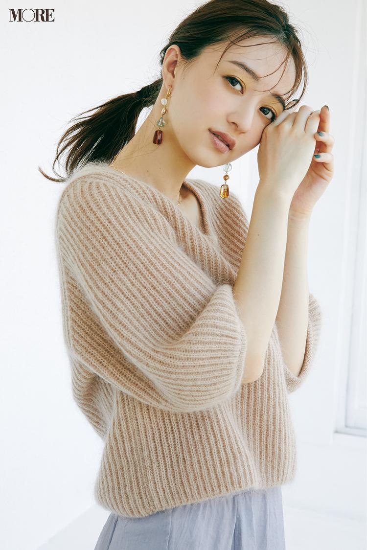 """まだ真冬のニットを着るには早いけど寒い......なんて時には""""長袖ニット未満""""のアイテムを投入!_2"""