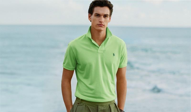 ラルフローレンのポロシャツ、グリーン