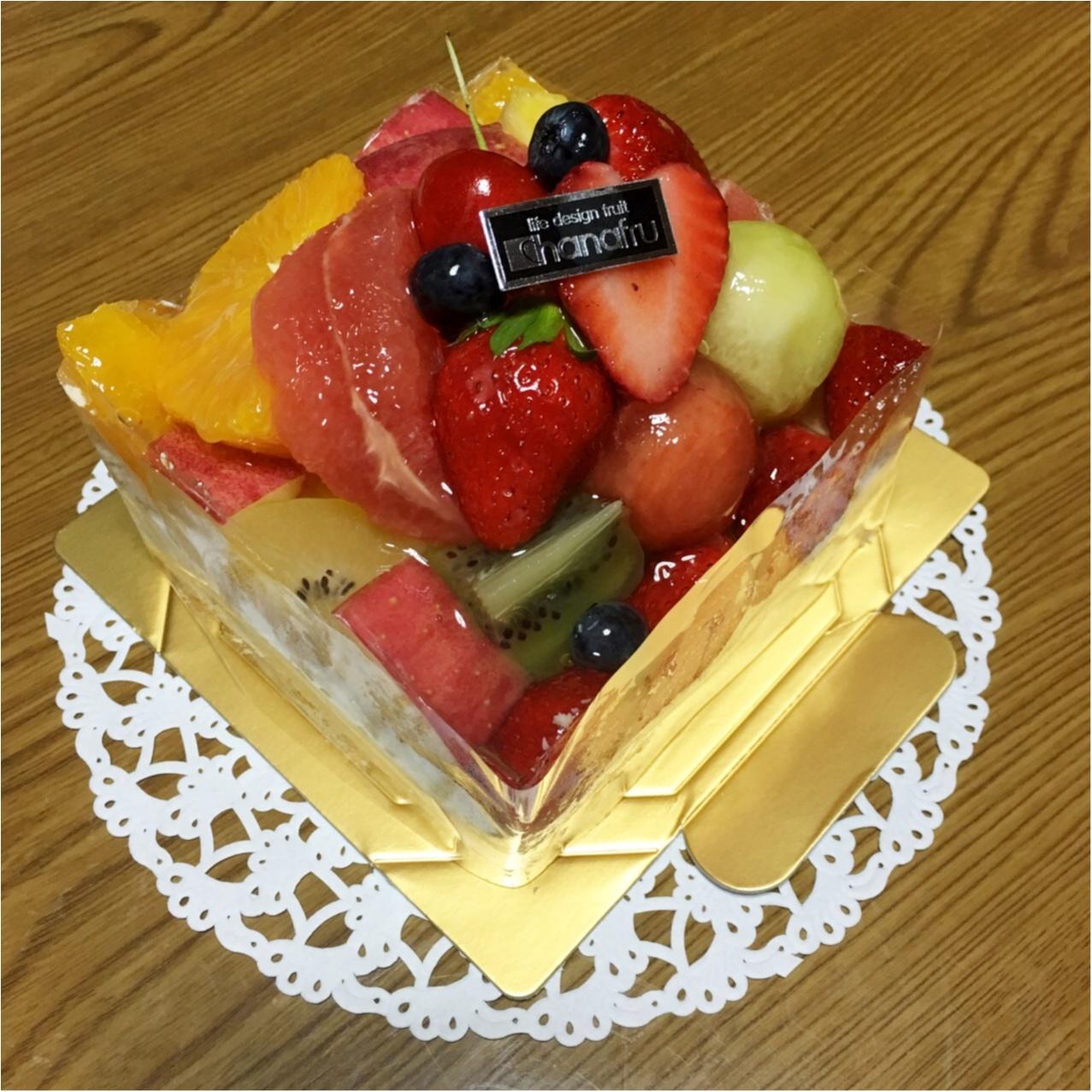 ボリュームがすごい!フルーツたっぷり♡ハナフルのフルーツケーキ_4