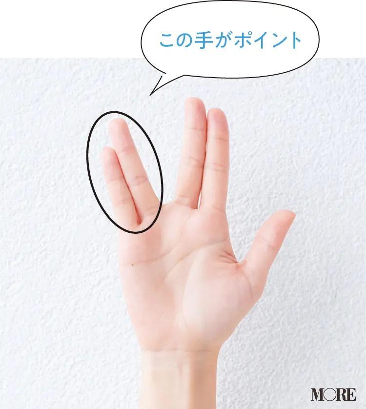 化粧水をつける時の手のひらの形