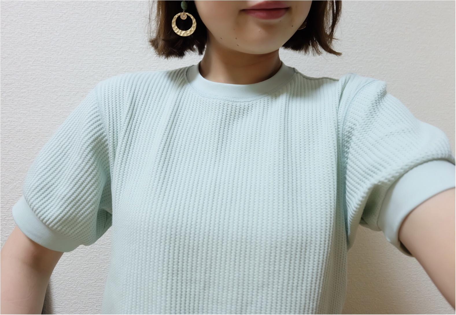【UNIQLO】腕が細く見えるワッフルTのヒミツ♡¥1500で着痩せしちゃおう♡コーデ組みあり☝︎_1