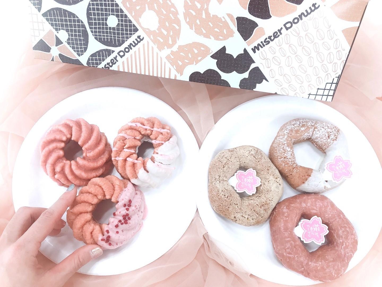 【ミスド 新作】「桜が咲くドドーナツシリーズ」6品を食べてみた♡ お花見のおやつにもおすすめ! _1