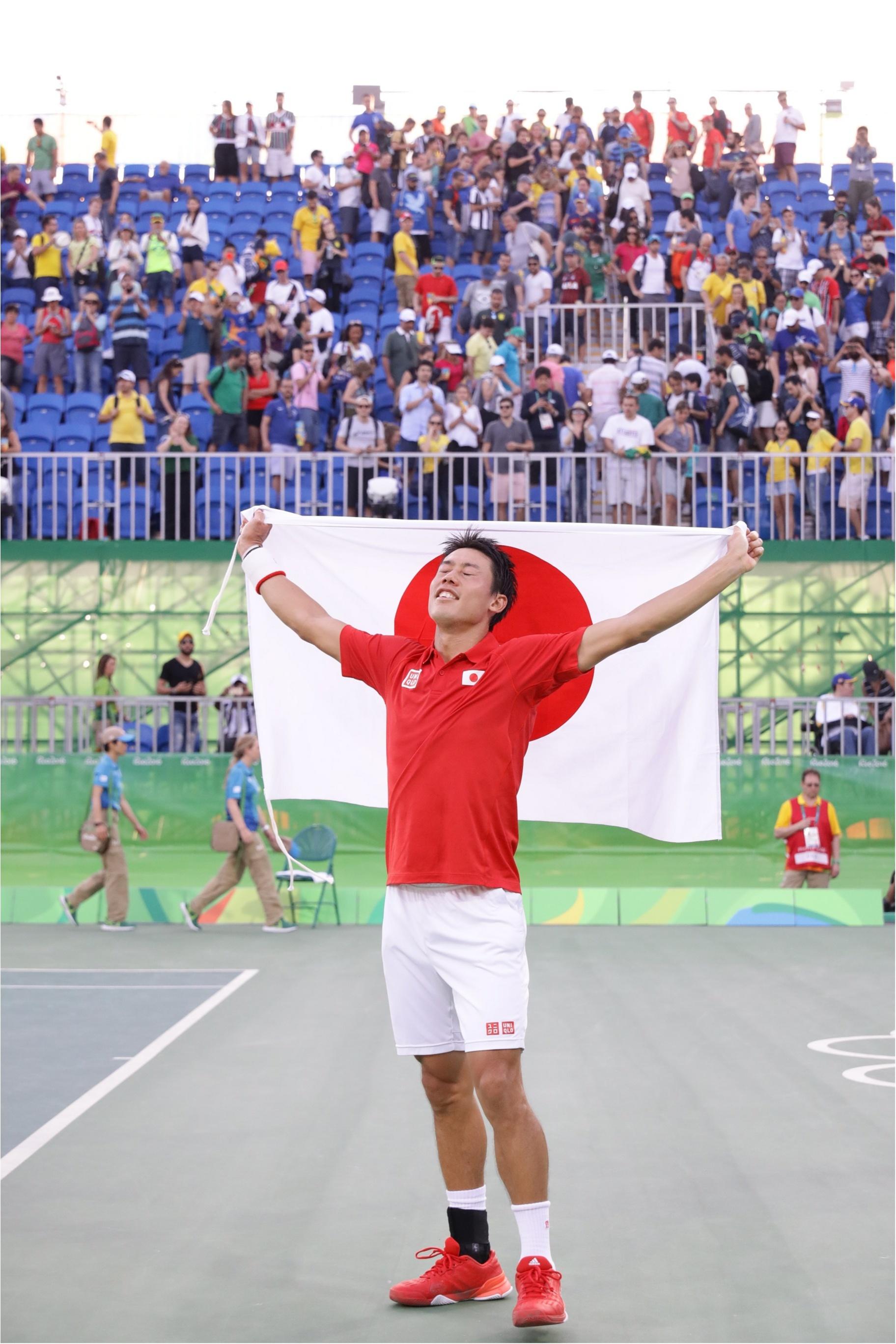 錦織圭選手96年ぶりのメダルに大歓声! バドミントンはいよいよメダル目指して決勝トーナメントです!_1