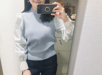 『GU』ニット1枚だけで今っぽいレイヤード!【今週のMOREインフルエンサーズファッション人気ランキング】