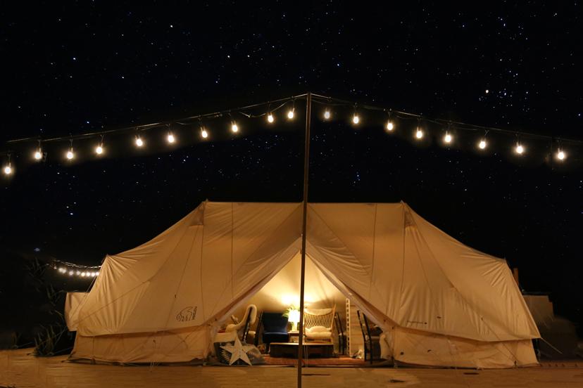 Ocean's Camp TORAMII、グランピングテント外観