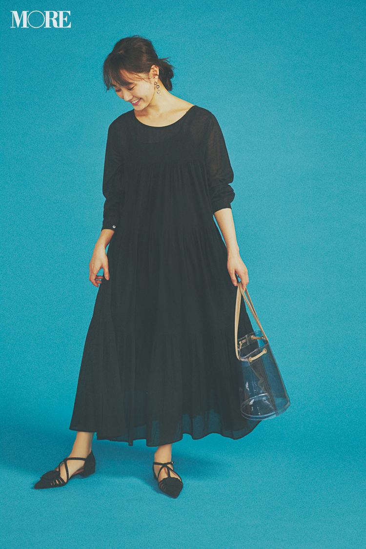 """【今日のコーデ】急なお誘いも笑顔でOK! ティアードのブラックドレスがあれば""""大人可愛い""""は即叶う♡ <鈴木友菜>_1"""