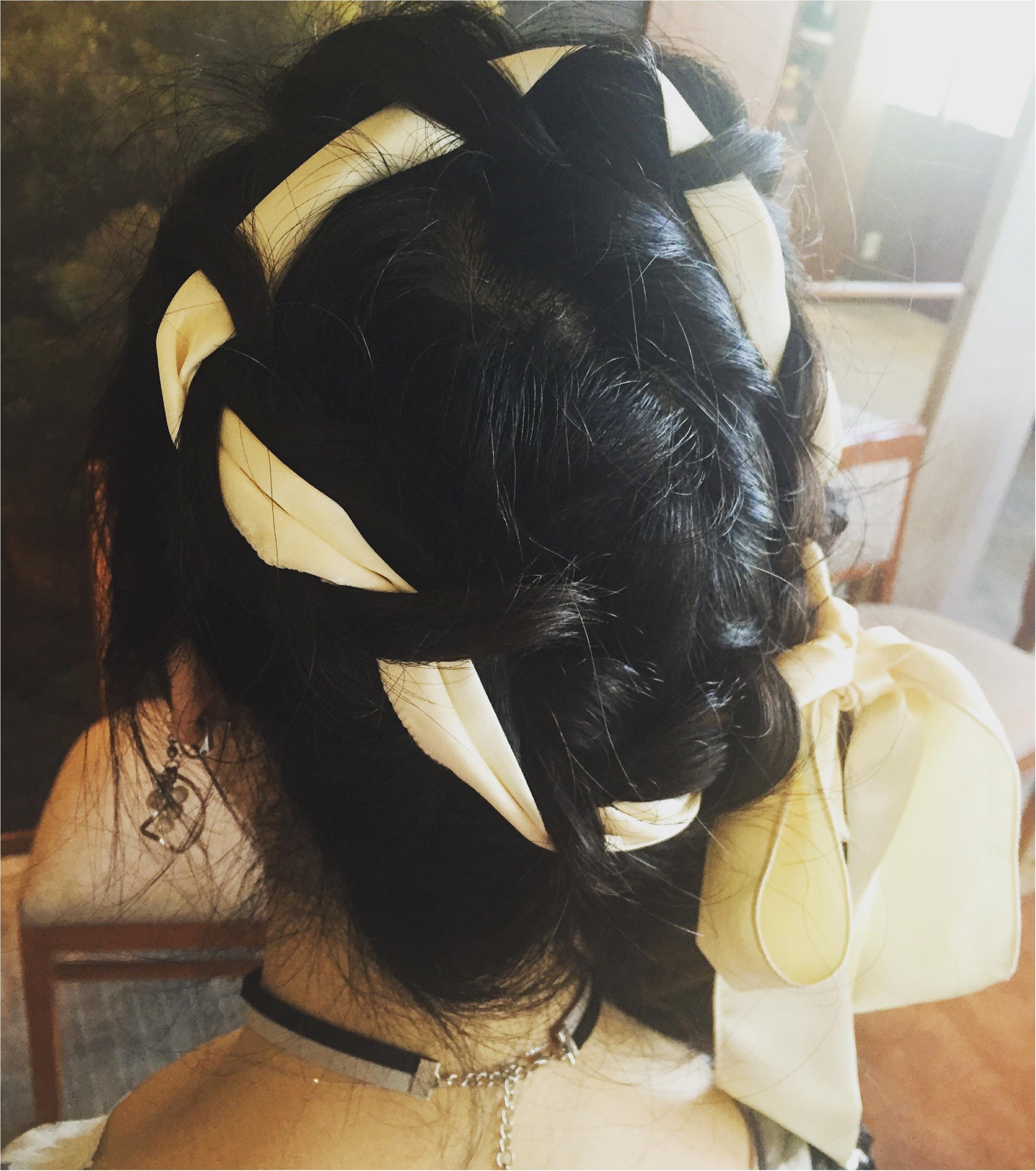 【Party Hair】リボンを使った編み込みアップヘア♡vif art新宿店なら¥2,500でヘアセットできちゃう✨≪samenyan≫_2