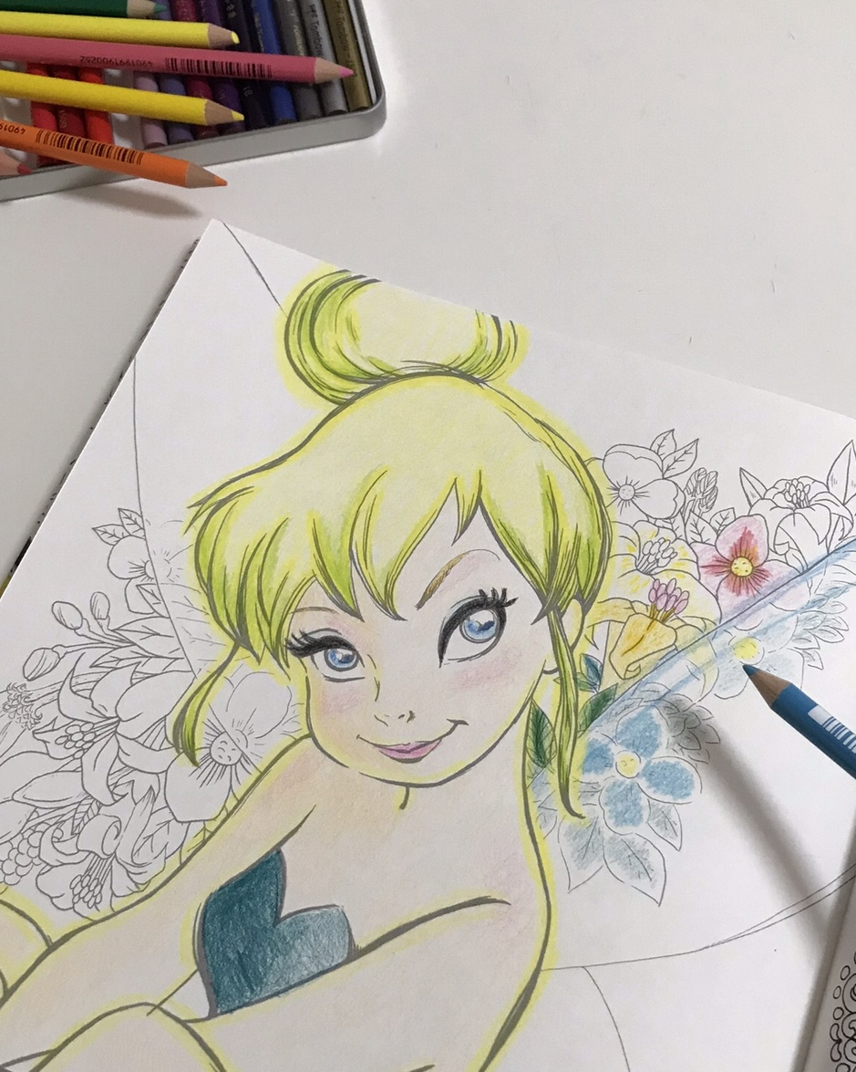 おうち時間「大人ディズニー 素敵な塗り絵レッスンブック」をやってみた!_10