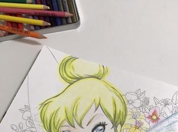 おうち時間「大人ディズニー 素敵な塗り絵レッスンブック」をやってみた!