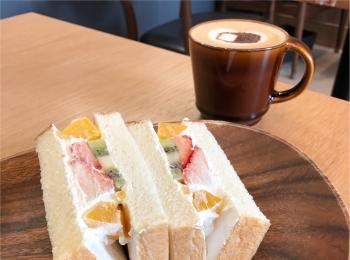 博多の食パン専門店『 むつか堂カフェ  』のフルーツミックスサンドがふわふわ甘くて美味しい♡♡