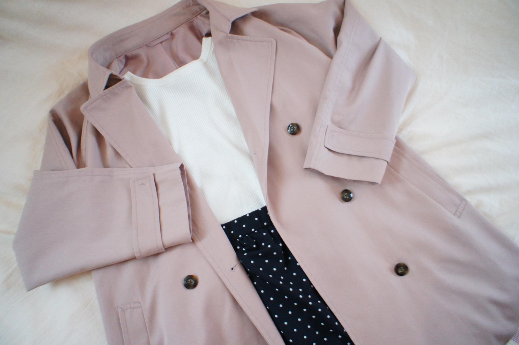 《#170cmトールガール》のプチプラコーデ❤️【GU】人と被らない!くすみピンクのトレンチコートが優秀☻_2