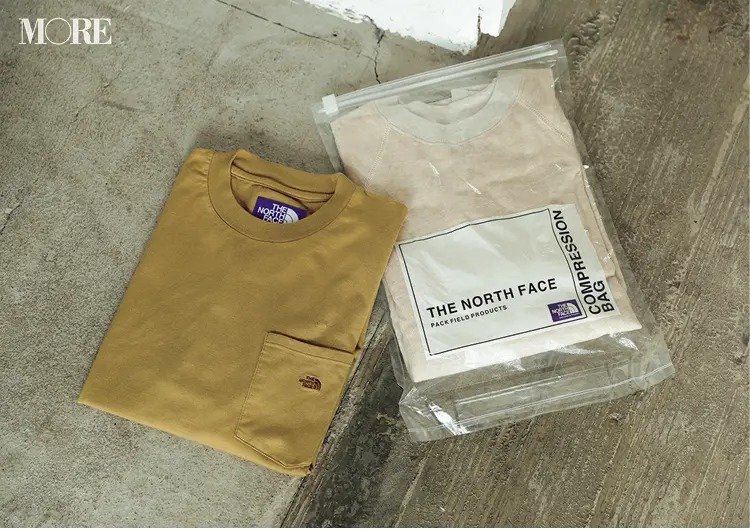 秋のオフィスカジュアルにおすすめのノースフェイスのTシャツ