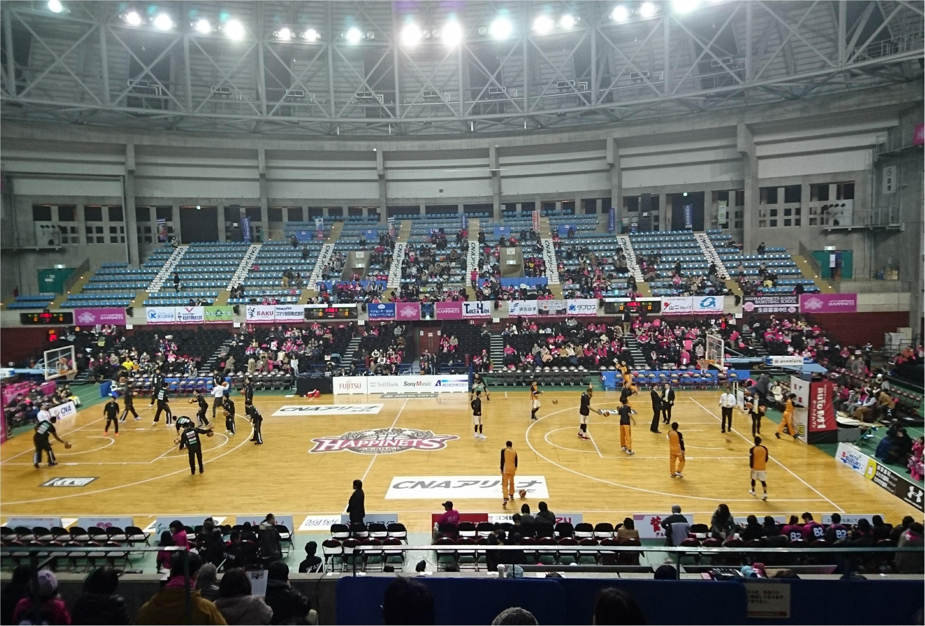秋田は寒くてもバスケの試合会場はとても熱いんです⊂((・x・))⊃!_3
