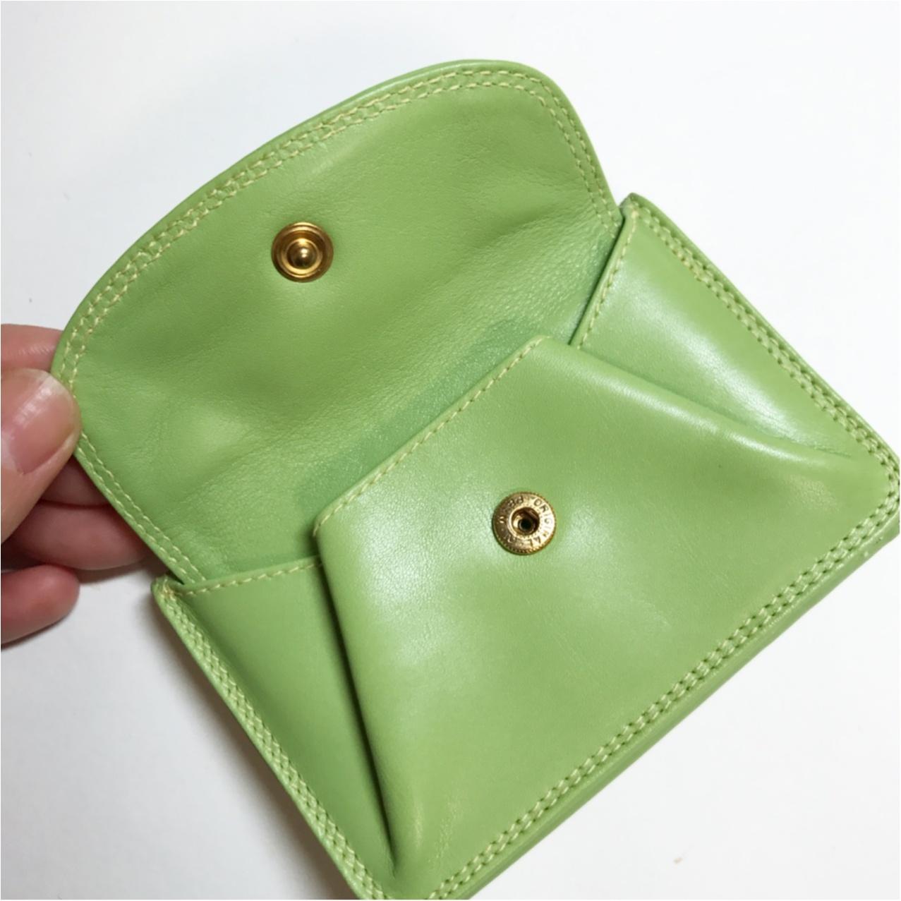 《ミニバッグの日のお供はコレ♡》和光の三つ折り財布がいちばん使いやすいっ!_2