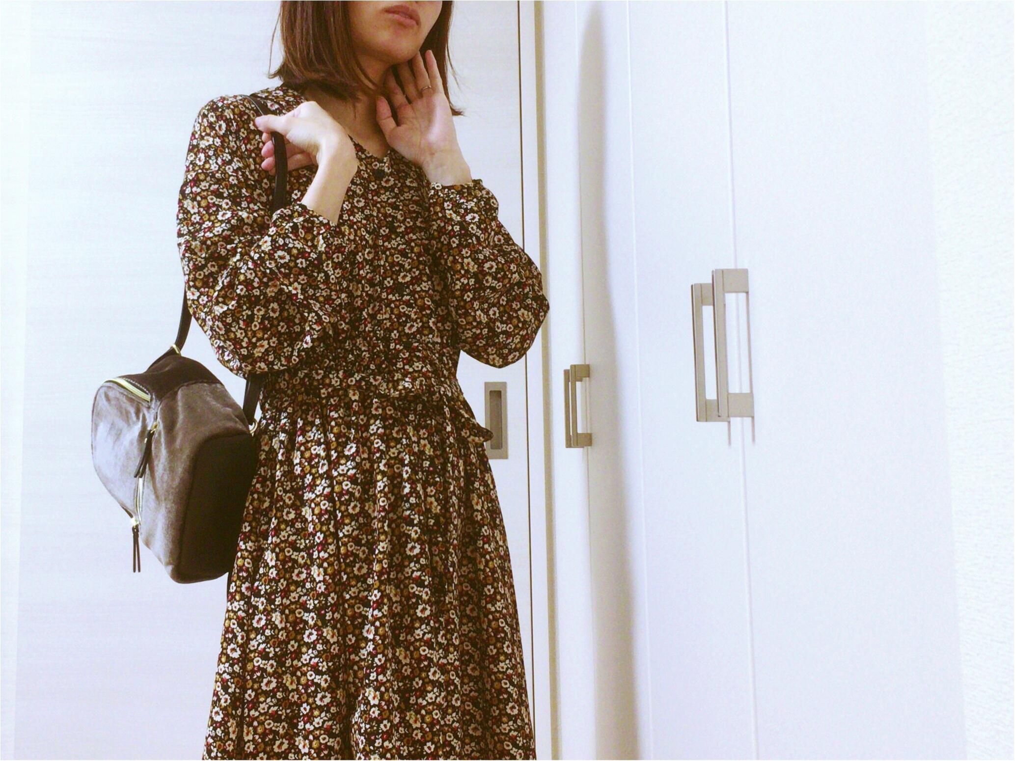 《Honeys》ヴィンテージ風花柄ワンピース【秋冬ファッション】プリプラ楽チンで!可愛いのんGET♡_4