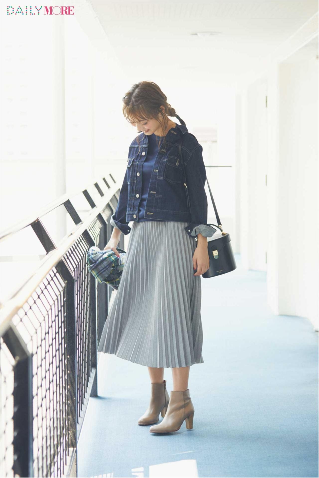 【今日のコーデ/内田理央】女らしさもすっきり見えも、新しくなったプリーツスカートにおまかせ♡_1