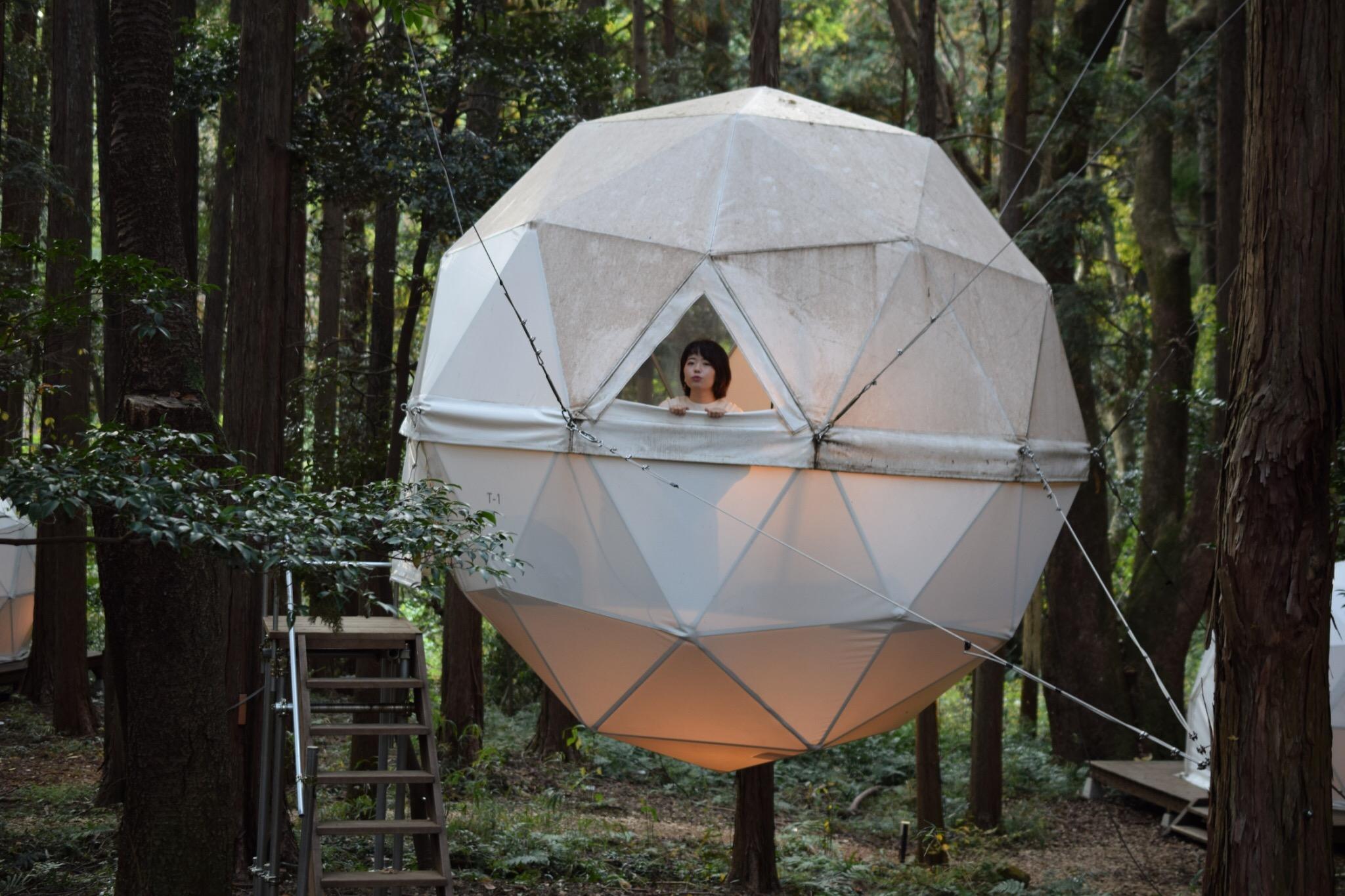 【女子旅におすすめ】森に浮かぶテントに泊まれちゃう♡《INN THE PARK》@沼津_5