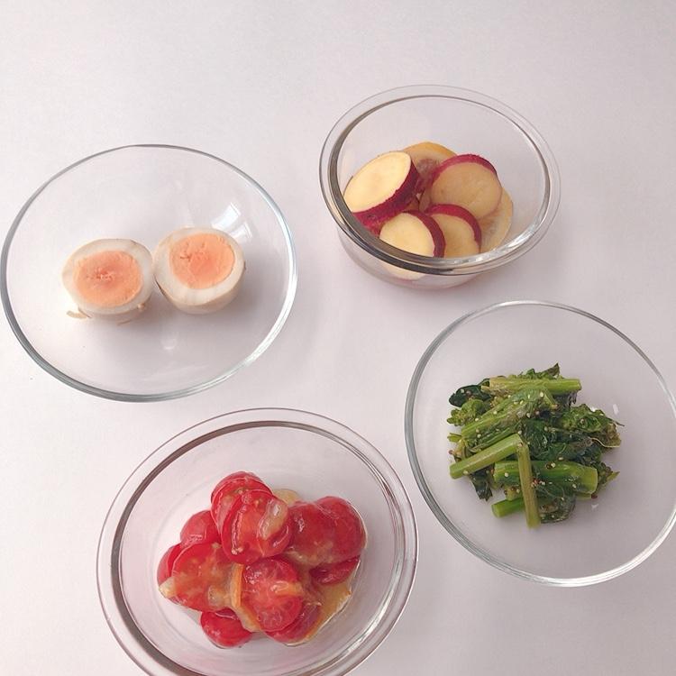 お弁当用にもリモートワーク用にも! 初心者さんでもいっきに4品できる。「ミニトマトのマーマレード和え」など簡単作りおきレシピ【作り置き副菜その2】_1