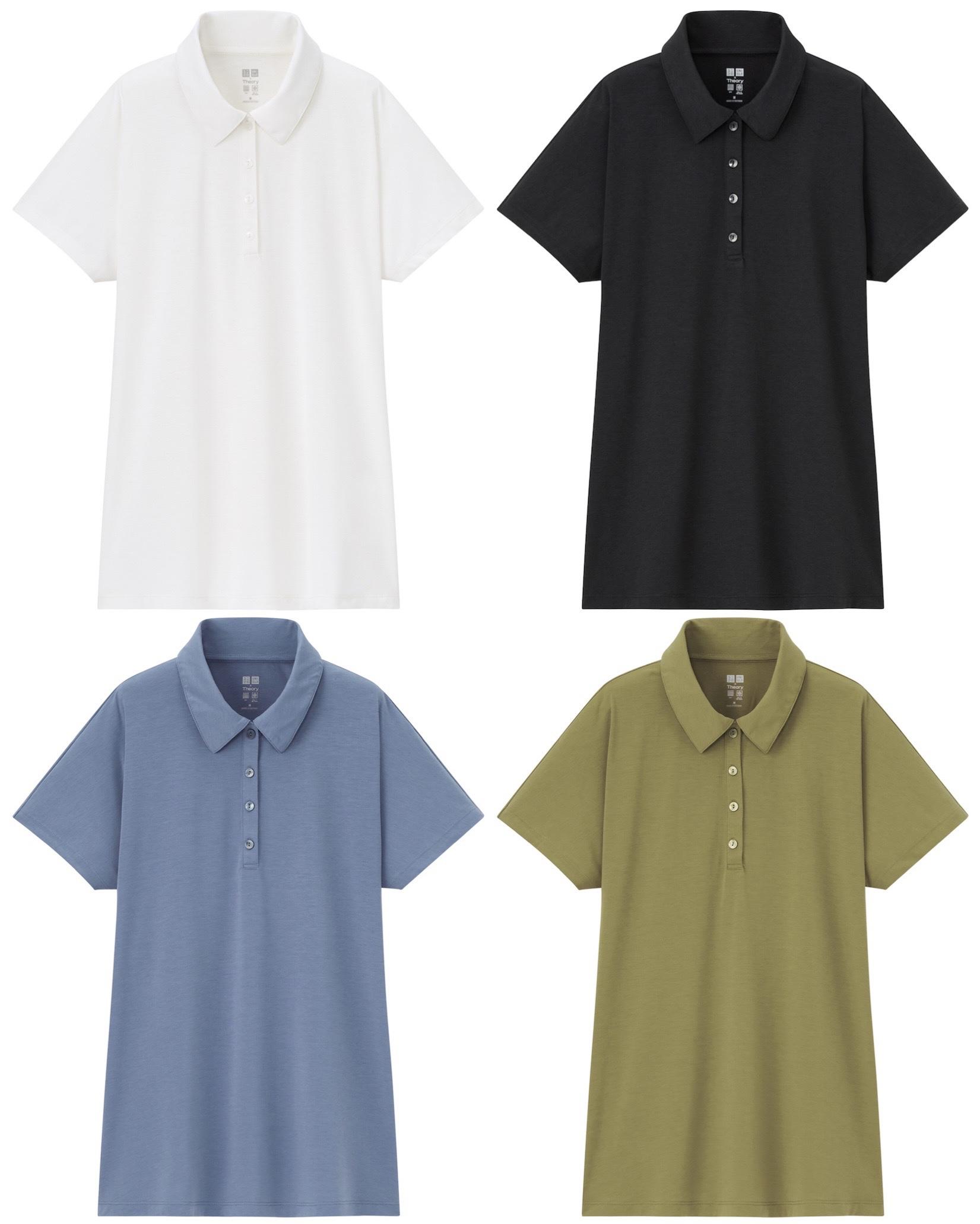 ユニクロ×セオリーのエアリズムAラインポロシャツ