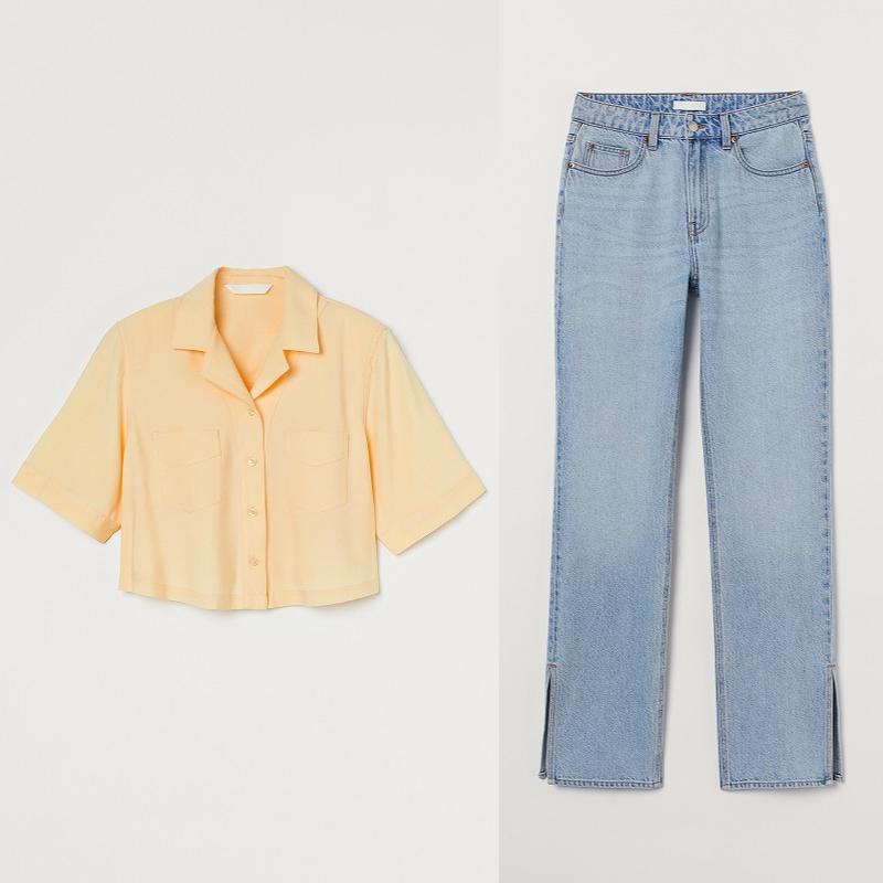 『H&M』の「LET'S CHANGE」キャンペーンコレクションのシャツとデニムの画像