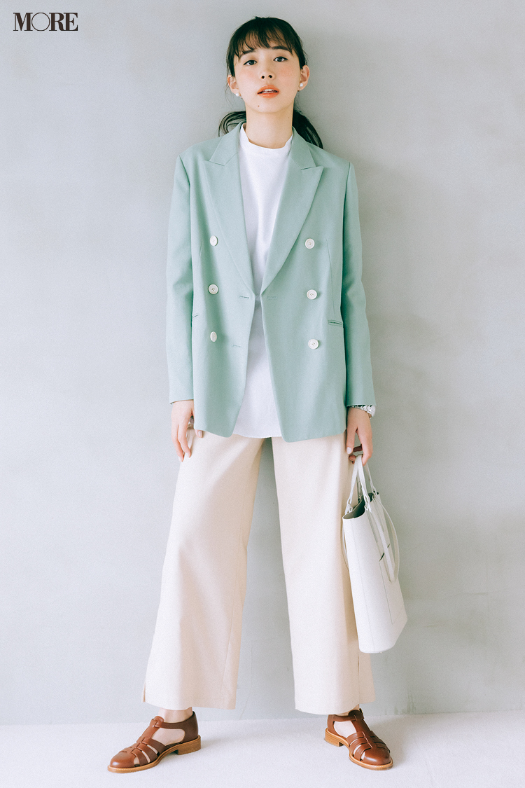 【今日のコーデ】井桁弘恵、きれい色ジャケットで通勤コーデを更新